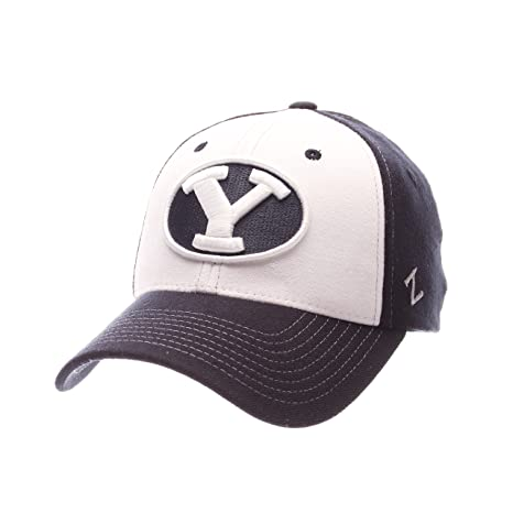 28b3d3610dc Image Unavailable. Image not available for. Color  NCAA BYU Cougars Adult  Men Bleacher Z-Fit Hat ...