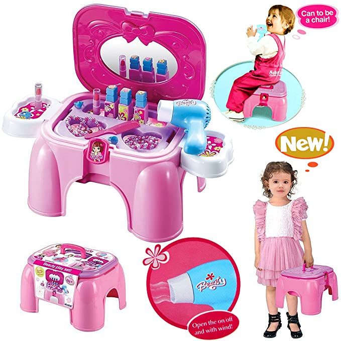 1 opinioni per ragazze Fingere mini giocattolo Case / Carry Set di stoccaggio Sgabello con
