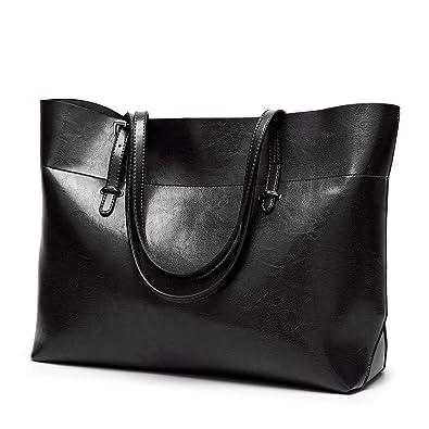820cbd21d9 Amazon.com  Obosoyo Women Top Handle Satchel Handbags Bag Shoulder Hobo Messenger  Bag Tote Purse Black  Shoes