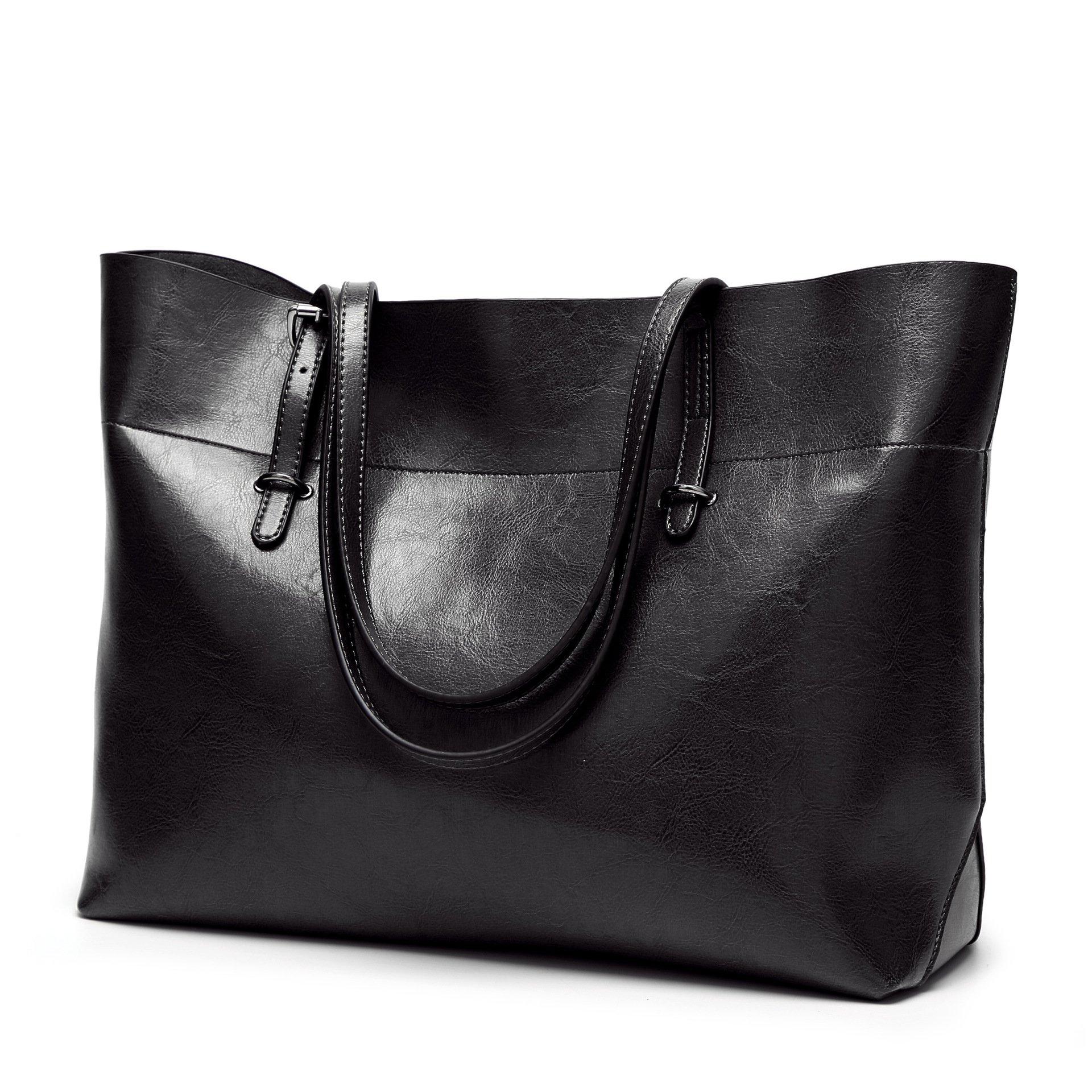 Obosoyo Women Top Handle Satchel Handbags Bag Shoulder Hobo Messenger Bag Tote Purse Black