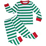 Amazon Price History for:BELLE-LILI Boys Girls 2 piece Christmas Striped Cotton Kids Pajamas Set