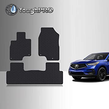 ToughPRO Cargo//Trunk Mat Compatible with Acura RDX All Weather Heavy Duty - Made in USA 2018 2017 2014 2016 - Black Rubber 2015 2013