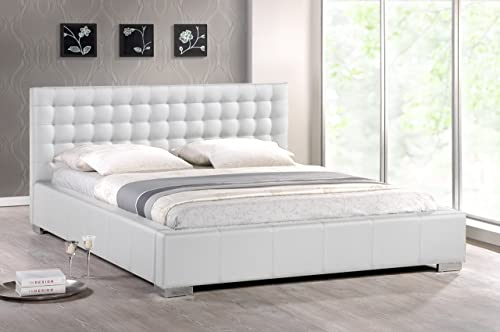 Baxton Studio Madison White Modern Bed