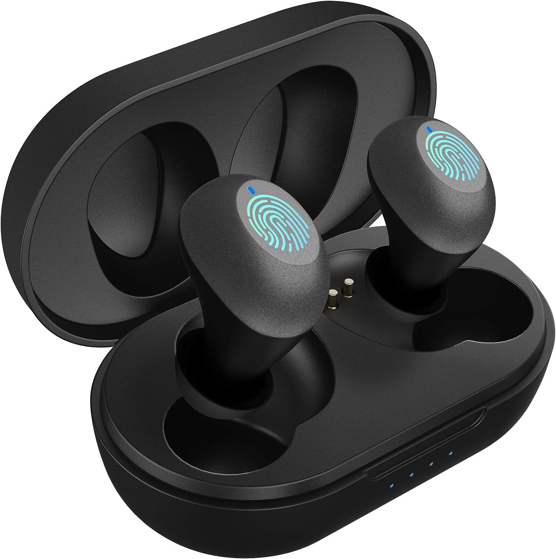 Auriculares Inalámbricos, Auriculares Bluetooth Mini Cascos In-Ear IPX5 Impermeable Auriculares Deportivos Estéreo con Estuche de Carga y Auriculares con microfono, Control Tactil,para iOS y Android