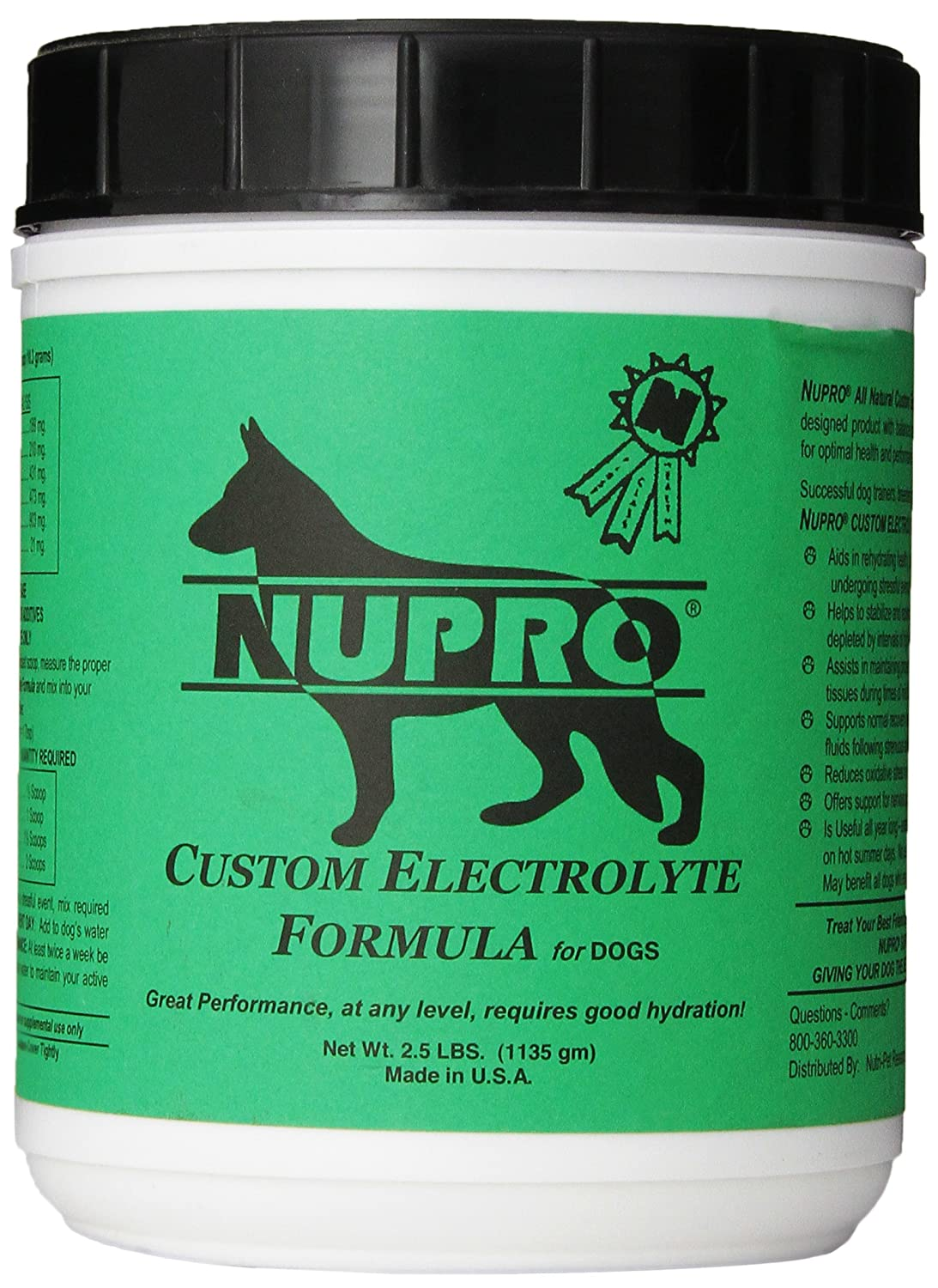 Nutri-Pet Research Nupro Electrolytes for Dogs 2.5-Pound