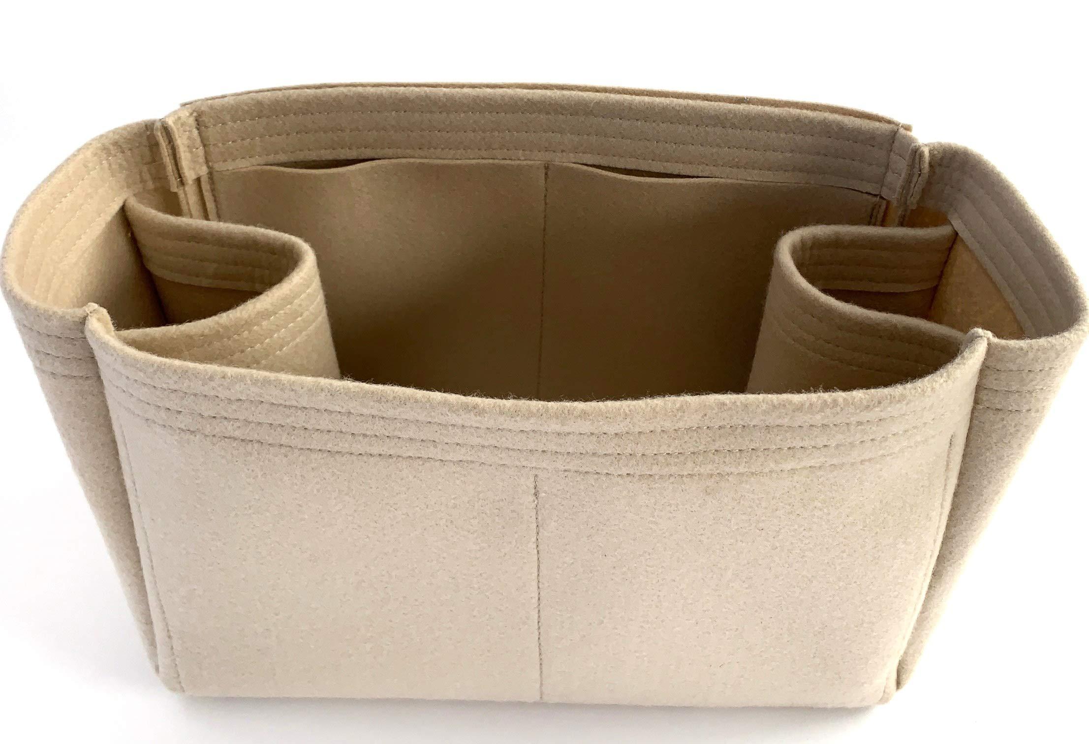 Purse Organizer Insert for LV Totally Handbag - Fits inside Louis Vuitton Totally bag - Thick Wool Blend Felt (MM, Beige)