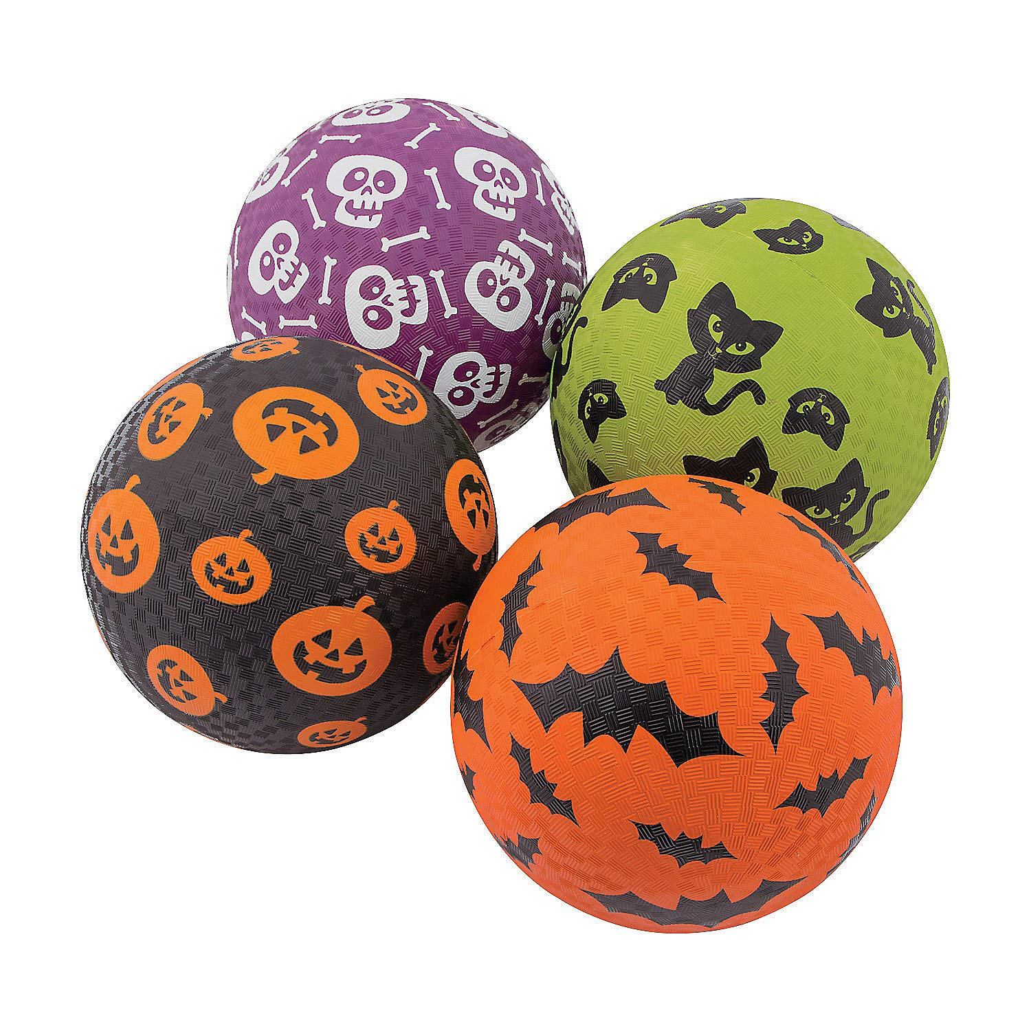 Fun Express Halloween Playground Balls for Halloween - Toys - Balls - Playground Balls - Halloween - 4 Pieces by Fun Express