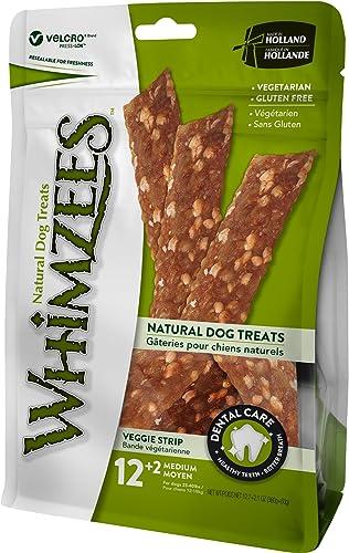Whimzees Natural Grain Free Dental Dog Treats, Veggie Sausage