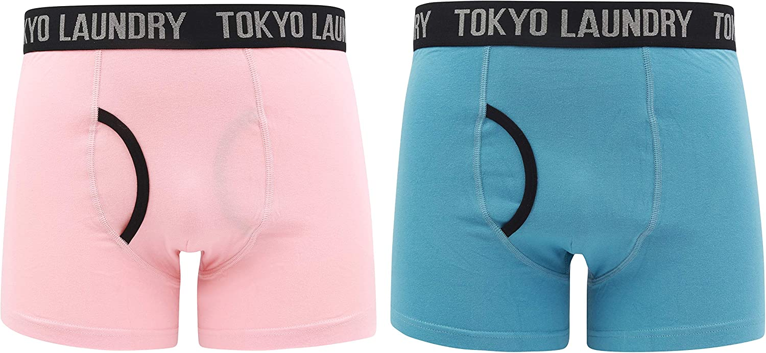 Tokyo Laundry Mens 2 Pack of Boxer Shorts Underwear