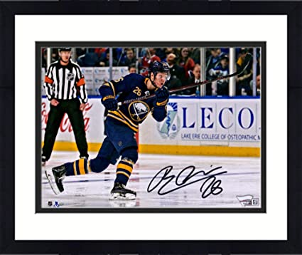 "99fec5950 Framed Rasmus Dahlin Buffalo Sabres Autographed 8"" x 10"" Blue  Jersey Shooting Photograph -"