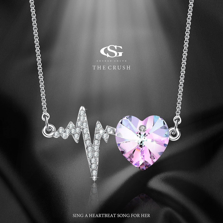 2 Pi/èces Bracelets de Petite-Fille Pendentif de Coeur Charmant Boules en Cristal Strass Perles Fausses Cadeau de Bijoux