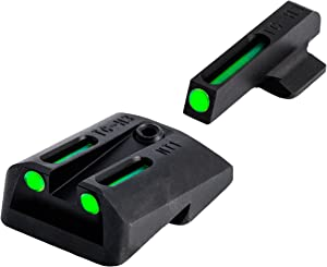 TRUGLO TFO Handgun Sight Set - Fits Novak LoMount Cut .260/.450