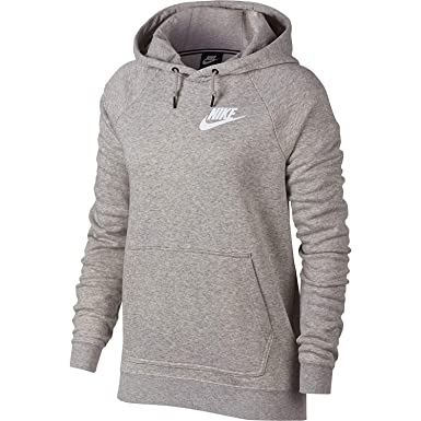 82334eb1a553 NIKE Sportswear Rally Women s Hoodie Grey Heather Pale Grey White  aj6315-050 (
