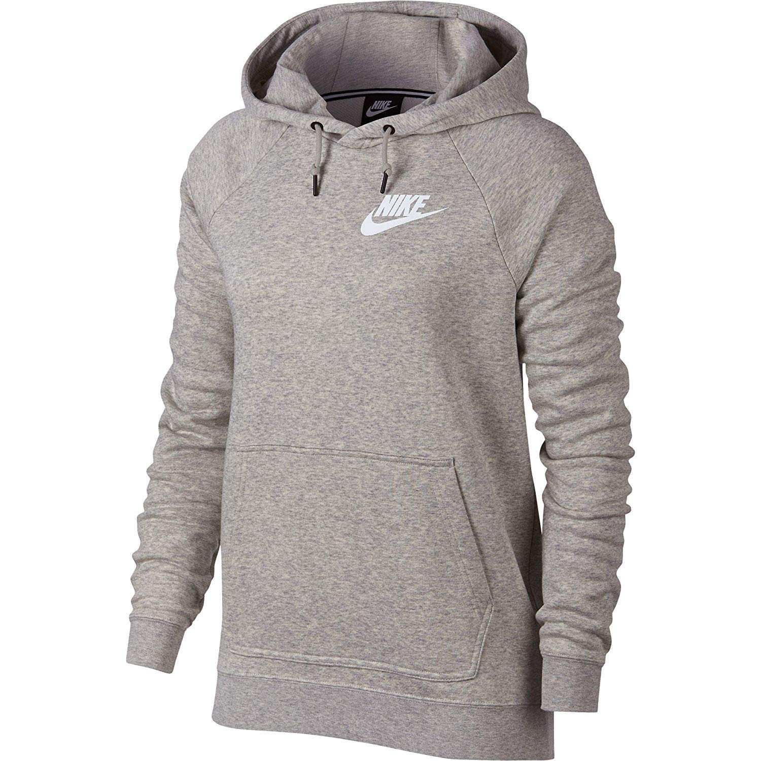 NIKE Sportswear Rally Women's Hoodie Grey Heather/Pale Grey/White aj6315-050 (Size S)