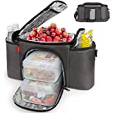 Insulated Lunch Bag for Men and Women, Lunch Box Water-resistant with Removeable Shoulder Strap Reusable Large Lunch Tote Bag