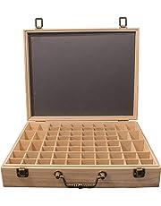 Eirene Essentials® - Essential Oil Storage Box - Suitable for Organic Essential Oils Set - Elegant Wooden Storage for Glass Bottles - Fits Most 2mL to 15mL Roller Bottles - Free Aluminium Bottle Opener & 168 Bottle Sticker - Brisbane Company