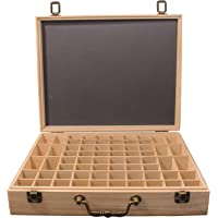 Eirene Essentials® - Essential Oil Storage Box - Suitable for Organic Essential Oils Set - Elegant Wooden Storage for Glass Bottles - Fits Most 2mL to 15mL Roller Bottles - Australian Company