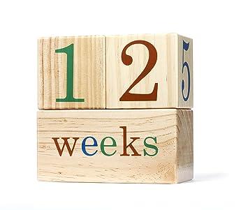 Amazon.com: BB – Bloques Bloques de fotos bebé edad, semanal ...