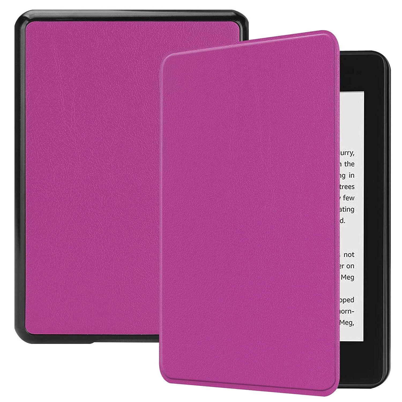 数量は多 Kindle Paperwhite 10用lobwerk ケース パープル ケース