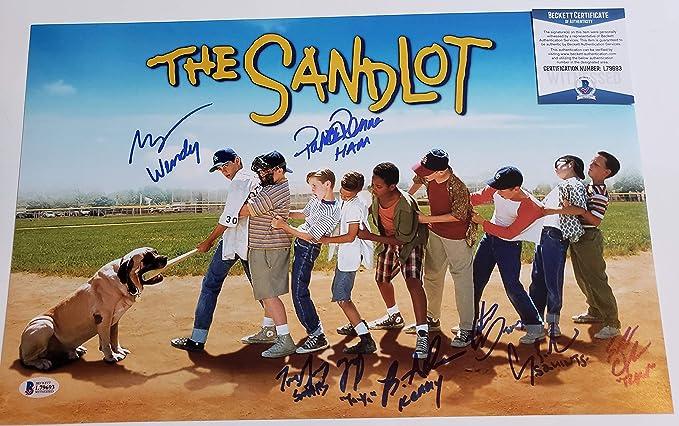 The Sandlot Cast 8 members autographed 11x17 Photograph