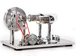 Sunnytech Hot Air Stirling Engine Motor Model Educational Toy Electricity Generator Colorful LED (SC001)