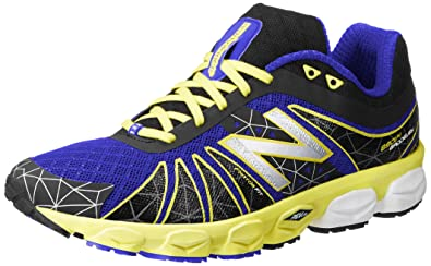 New Balance Men's M890 Neutral Light Running Shoe,Black/Yellow,7 2E US