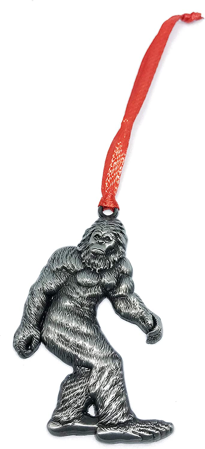 Bigfoot Yeti Sasquatch Christmas Tree Decoration Fathers Day Hide N Seek Gift Christmas Ornament Pewter Charm Decorative Vacation Travel Souvenir Zoo Safari Jungle Animals Theme Decorations