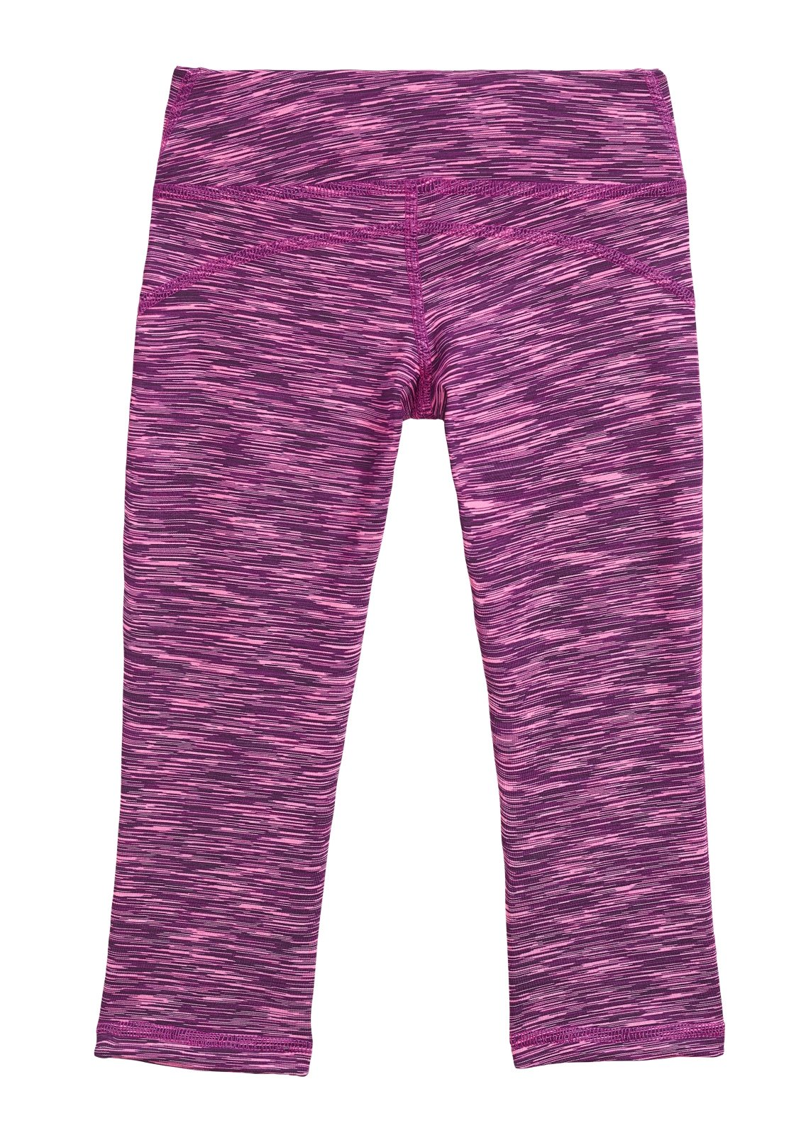City Threads Girls' Workout Leggings Capri Summer High Performance Legging For School Camp Sports Dance Gymnastics and Playing, Pink/Purple/Black, 16 by City Threads (Image #2)