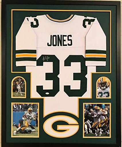 new style e4a18 9aa78 Framed Aaron Jones Autographed Signed Greenbay Packers ...
