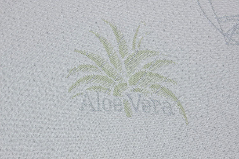 Materasso per Culla Lettino Aloe Dream antisoffoco Misura 60x120 cm Alto 12 cm con Rivestimento sfoderabile e Lavabile in Lavatrice con Cuscino antisoffoco in Omaggio.