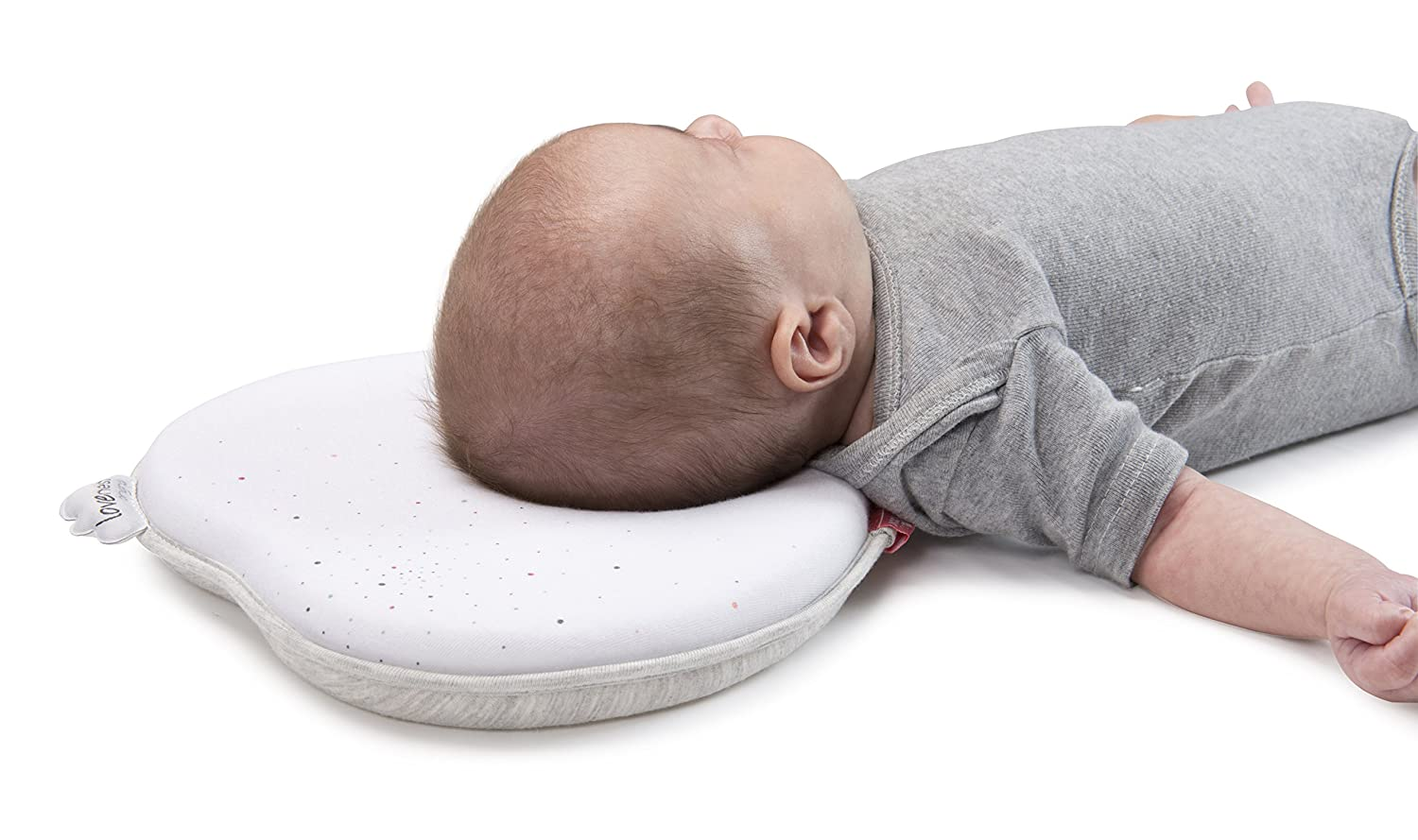 Patented Pillow For Baby and Infant Head Support /& Flat Head Syndrome Prevention PICK YOUR COLOR Babymoov Lovenest