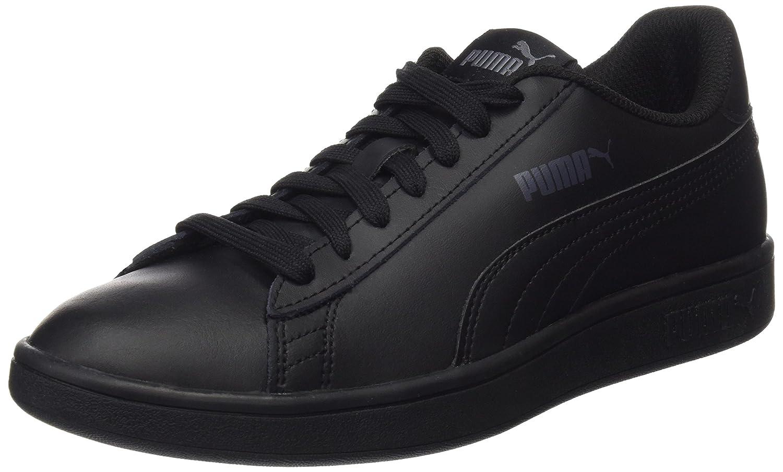 07927df2ae8b Puma Unisex-Erwachsene Smash Sneaker V2 L Sneaker Black-puma Schwarz 19907 ( Puma Black-puma Black 6) c66ed89