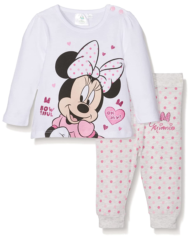 Disney Baby-Mädchen Zweiteiliger Schlafanzug Disney Minnie WS-160854