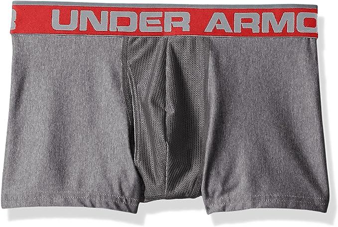 """Black//Red Under Armour Men/'s Original Series 3"""" Boxerjock Large"""