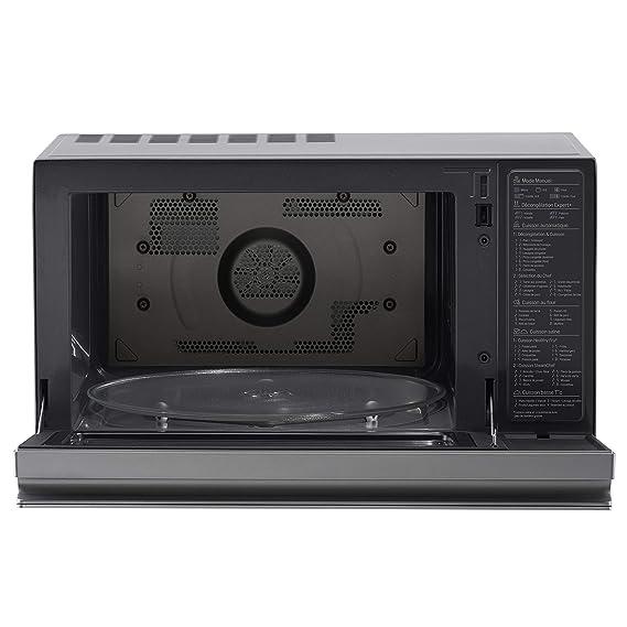 LG MJ3965ACS - Horno Microondas con Grill Smart Inverter, Microondas 1100 W, Grill 950 W, Convección 1850 W, 39 litros de capacidad, Color Negro y ...