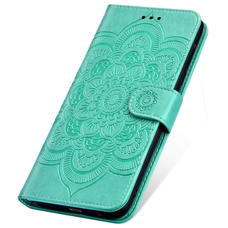 SainCat f/ür Nokia 3.1 Plus H/ülle Bookstyle Leder Case Premium Handyh/ülle mit Mandala-Blume Standfunktion Sto/ßfest Komplett Flip Wallet Cover Schutzh/ülle f/ür Nokia 3.1 Plus-Brown