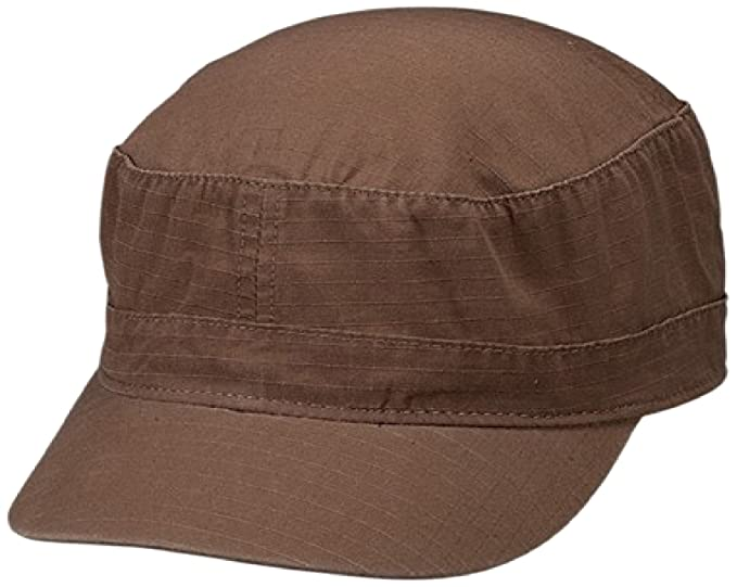 30dedc5d Amazon.com: Cameo Cotton Ripstop Fitted Army Cap, Brown, 57 cm: Clothing