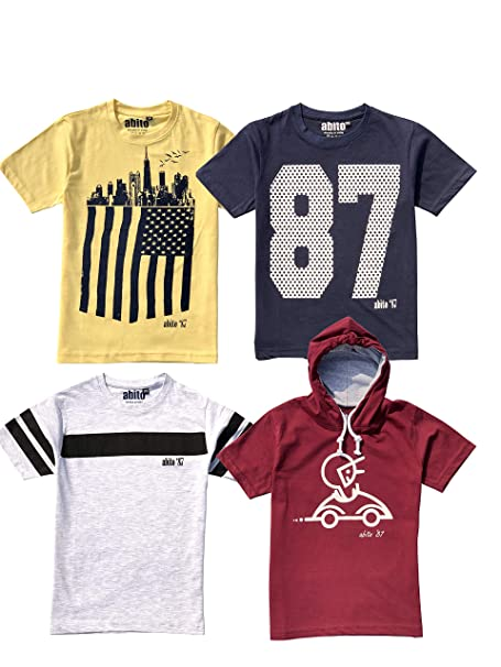 Buy Abito T Shirts For Boys Pack Of 4 At Amazon In