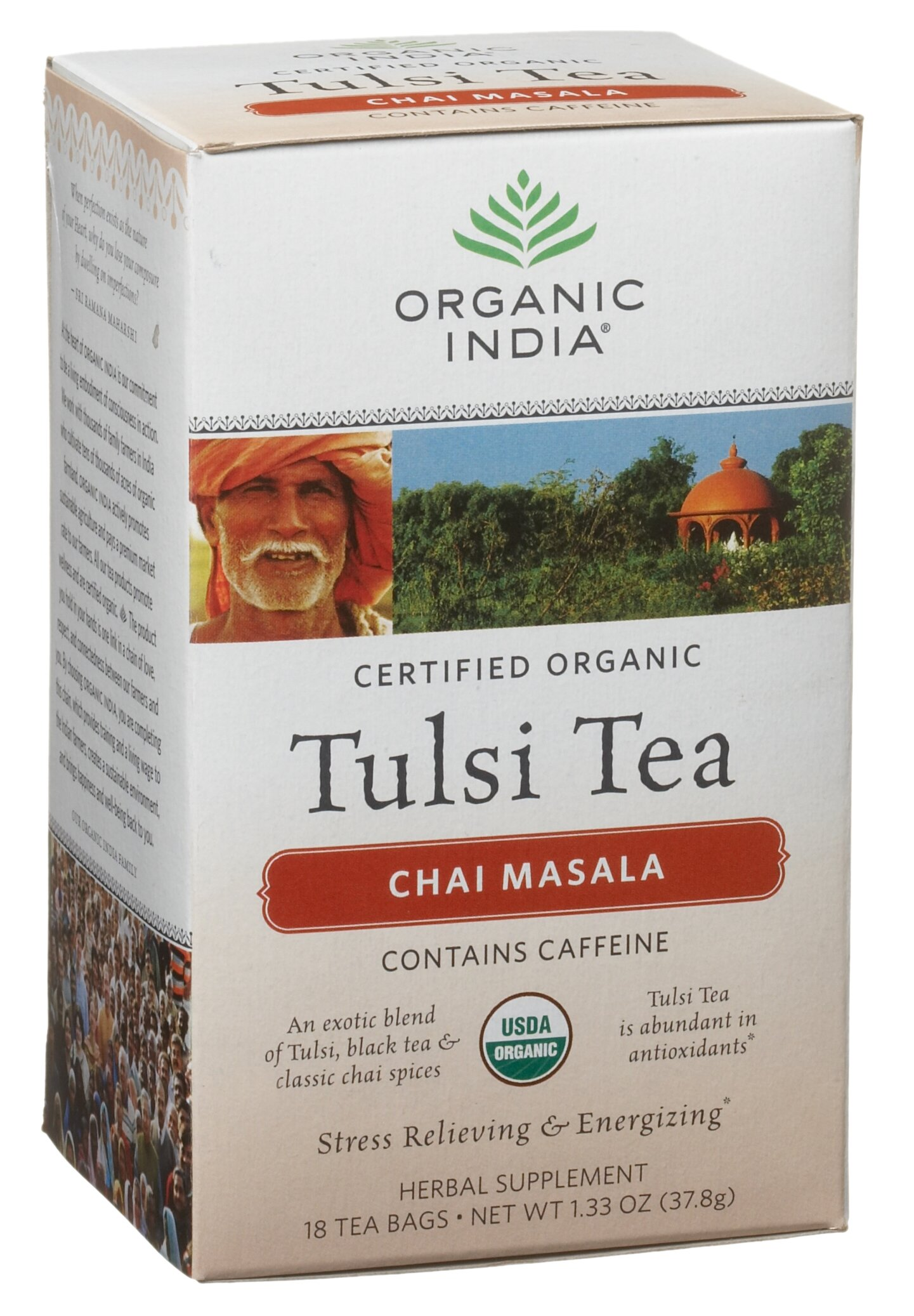 Organic India Tulsi Chai Masala, 19-Ounce Boxes (Pack of 6)
