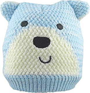 Autone Children Kids Winter Cartoon Thickened Knitted Full Finger Gloves Windproof Color Block Striped Mittens With Long String For 2-6 Years Old