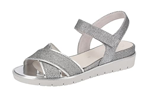 Gabor Damen Sandalette - Riemchen Sandalen 85.509 Best Fitting 85.509.60  Silber, EU 38 4195658c5c