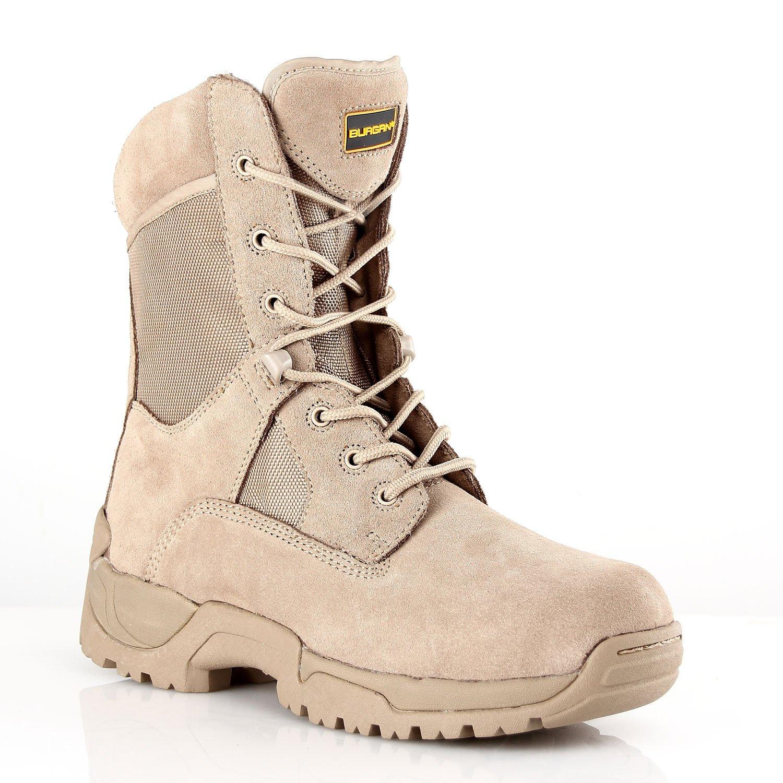 BURGAN 871 TAC Force 8 Inch Tactical Zipper Boot
