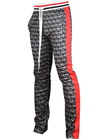09fa19009c1a Screenshotbrand Mens Hip Hop Premium Slim Fit Track Pants - Athletic Jogger  Bottom with Side Taping
