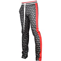 8ad4080900 Screenshotbrand Mens Hip Hop Premium Slim Fit Track Pants - Athletic Jogger  Bottom with Side Taping