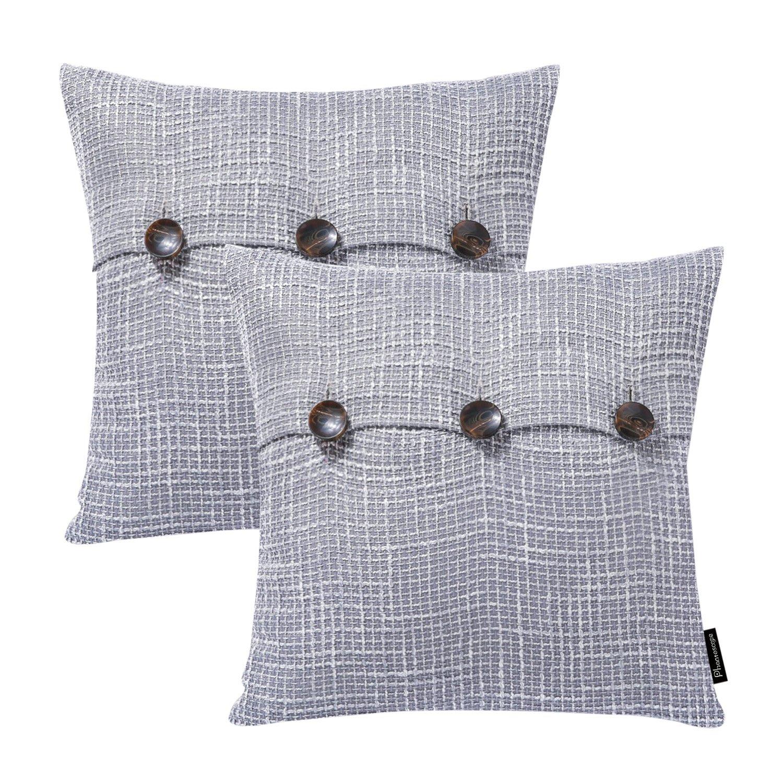 Amazon.com: Funda de cojín de lino con botones de fantasma ...