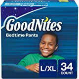 GoodNites Bedtime Bedwetting Underwear for Boys, L-XL, 34 Count