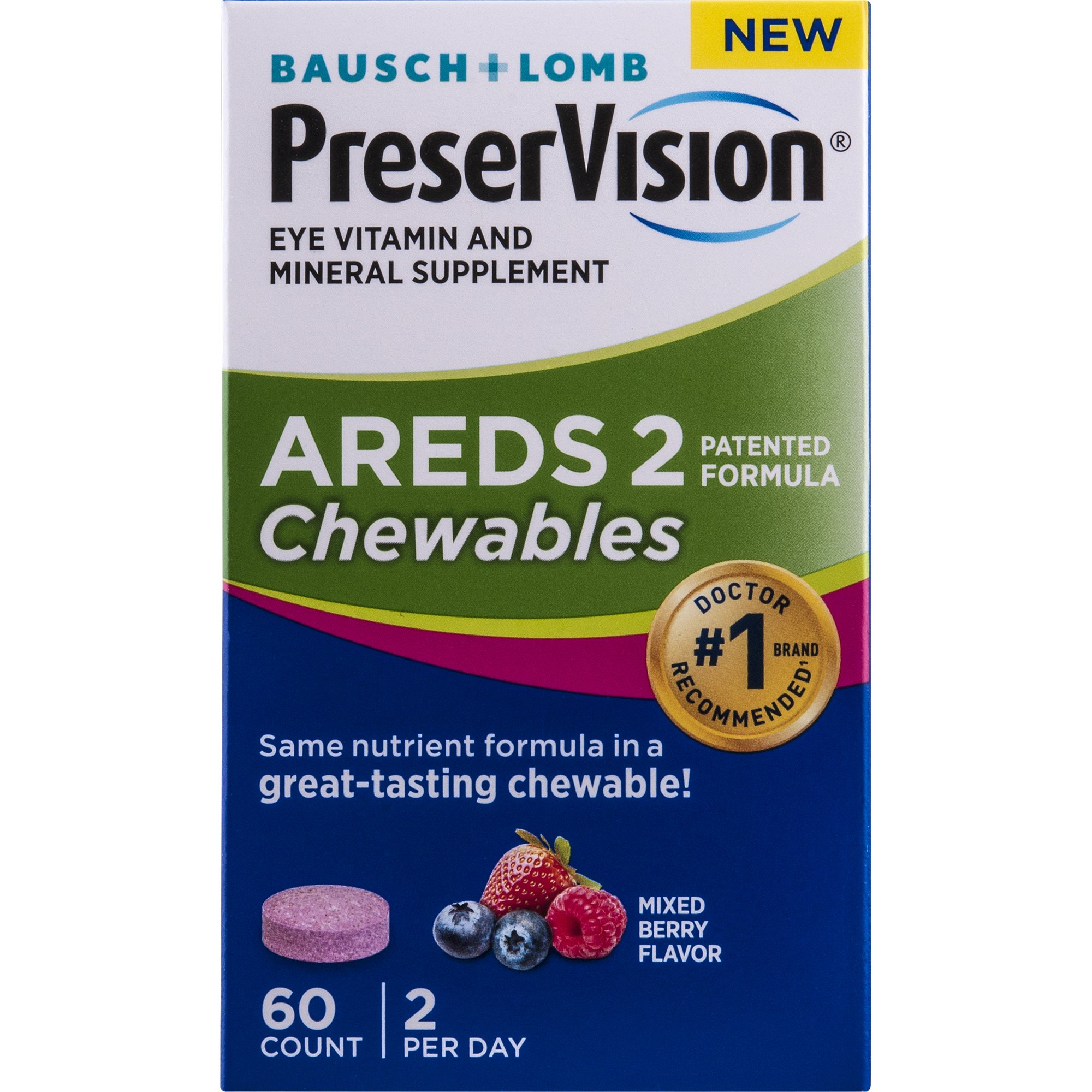 Preservision Areds 2 Formula Chewables, 60 Count by PreserVision