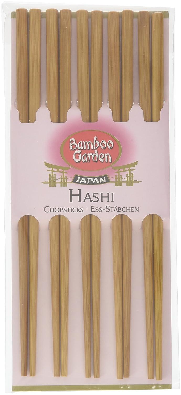 Sushi Besteck Bamboo Garden Hashi Ess-St/äbchen Sushi-St/äbchen Essst/äbchen aus Holz Menge: 2 x 5 St/ück perfekt f/ür asiatische Gerichte