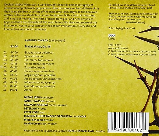 Dvorak: Stabat Mater (LPO: LPO-0062): Amazon co uk: Music