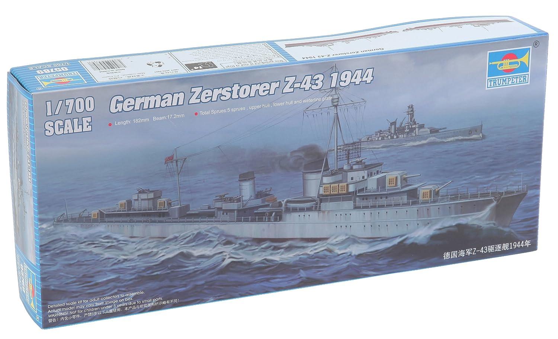 Trumpeter 1//700 German Zerstorer Z43 Destroyer 1944 Model Kit